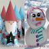 Κατασκευές για τα Χριστούγεννα με χάρτινα ποτήρια και πιάτα