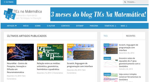 Blog TICs Na Matemática - Nossa história até aqui