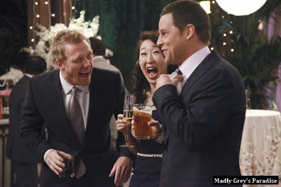 behind the scenes grey's anatomy sandra oh kevin mckidd justin chambers