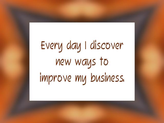 BUSINESS affirmation