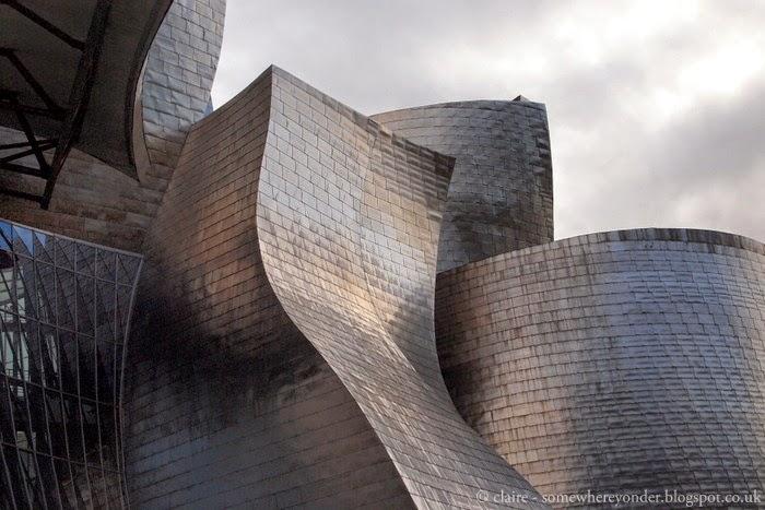Guggenheim Museum Bilbao at dusk