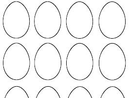 Easter Egg Basket Template Printable
