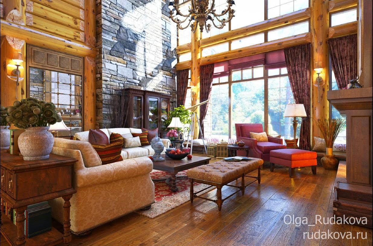 Дизайн и визуализация Канадского дома_1 этаж