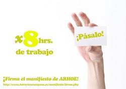 Firma el manifiesto de ARHOE