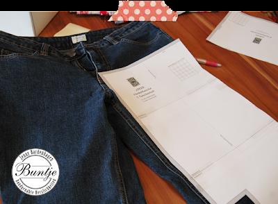 alt Jeans recyceln Upcycling Tasche Joker Taschenspieler Farbenmix Paspel London