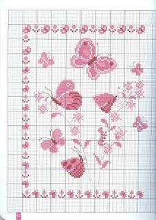 Artes de maria helena tudo rosa for Farfalline punto croce