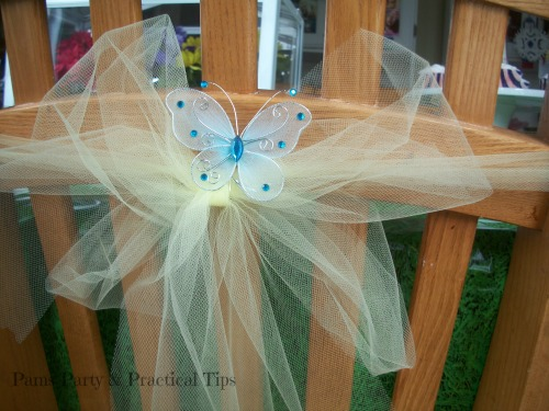 Butterfly Chair Decor at Pams Party and Practical Tips