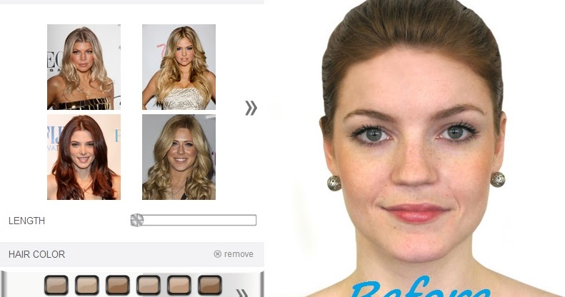 Virtual Hair Styles: Hollywood Hair Virtual Makeover Effects Hollywood Latest