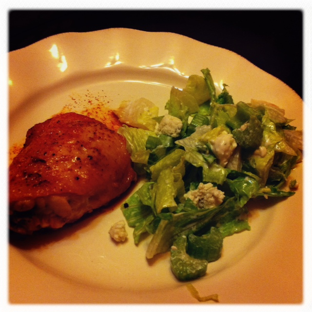 Everday Food Buffalo Chicken Thighs with Celery and Blue Cheese Salad ...
