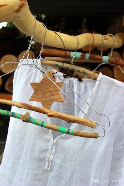 DIY / Cintres en bois / Photos Atelier rue verte /