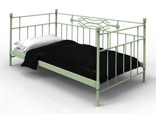 cama de forja, sofa de forja, divan de forja, muebles forja
