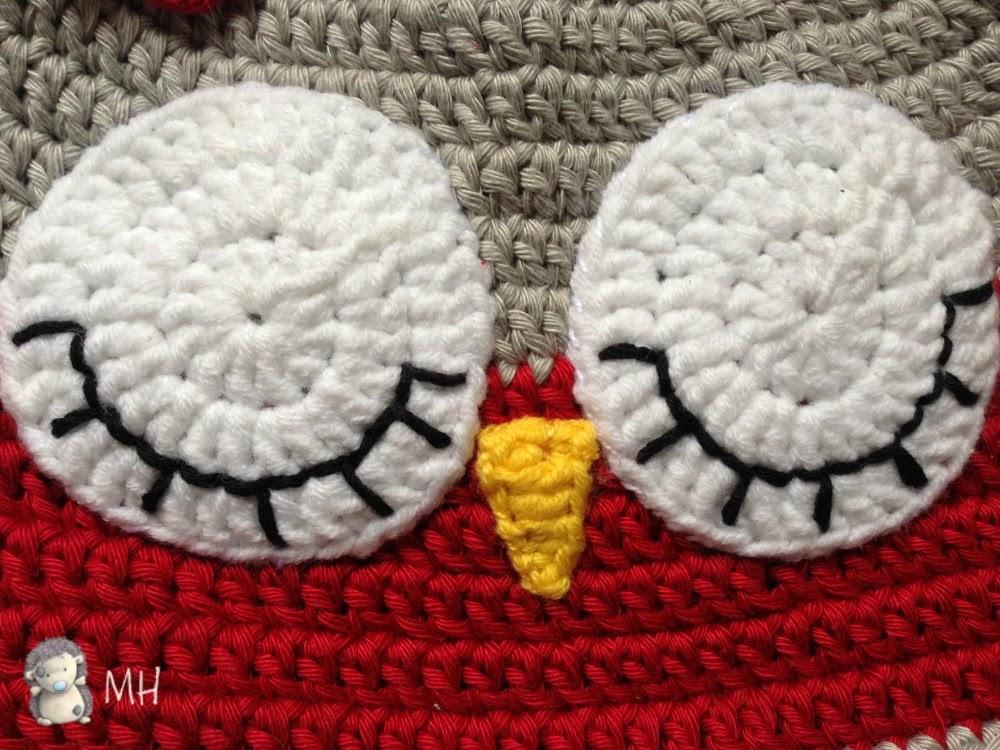 Encantador Los Patrones De Crochet Libre De Búho Modelo - Manta de ...