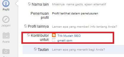 edit kontributor untuk pada profil anda
