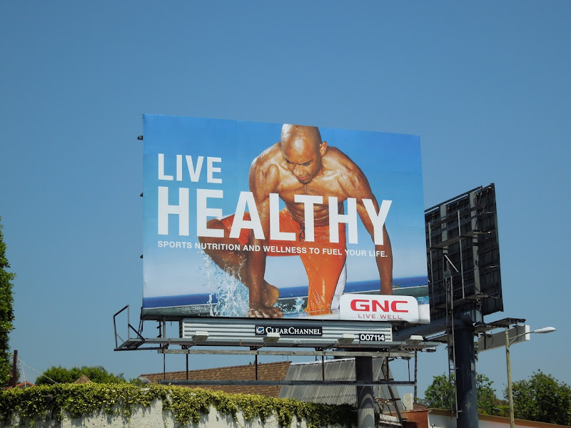 GNC Live Healthy swimmer billboard 2012