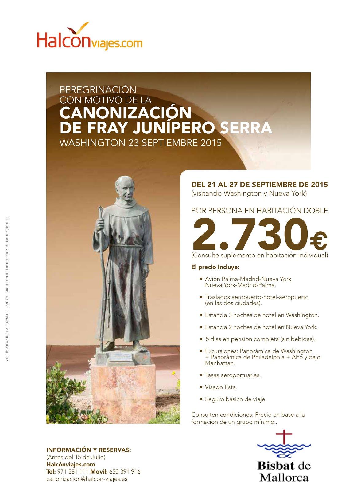 Canonització Juníper Serra