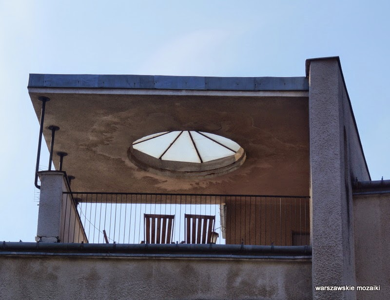 świetlik na dachu dom Brzezińskich warszawskie mozaiki Saska Kępa Warszawa Praga Południe willa modernizm lata 30 lata 20 architektura