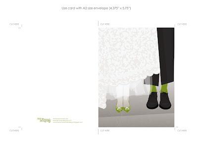 Free Printable Wedding Card on Free Cute Modern Wedding Card Printable