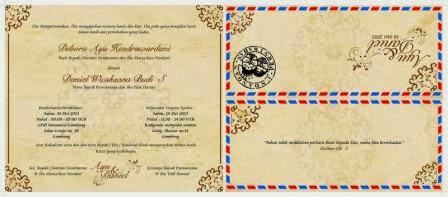 Undangan Model Amplop,Undangan Vintage Envelope,Undangan Amplop Retro