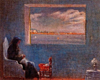 Retrat de l'àvia Anna cosint (Salvador Dalí)