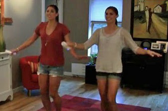 Hope Solo, Alex Morgan. Just Dance, dancing Wii Video Game