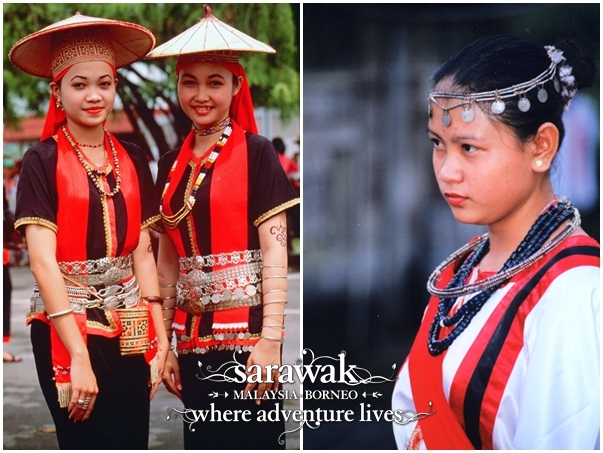 Bidayuh ladies from different dialect groups