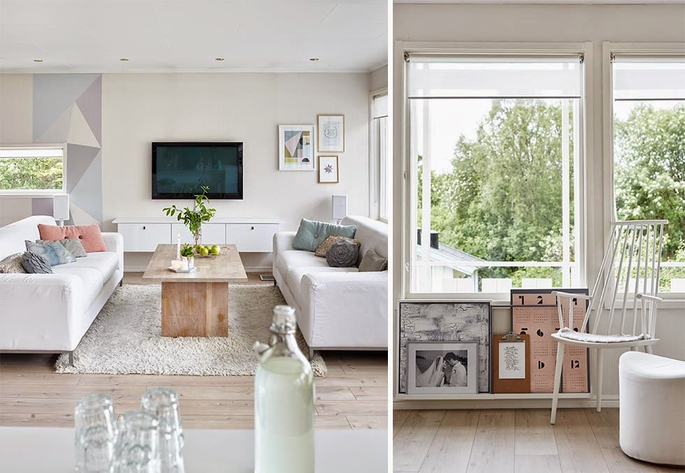 Colores pastel y madera en una casa para so ar la for Muebles oscuros paredes claras