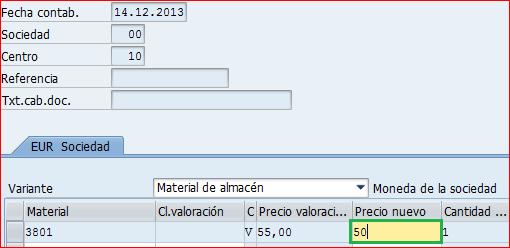 mr21 modificacion del precio de material