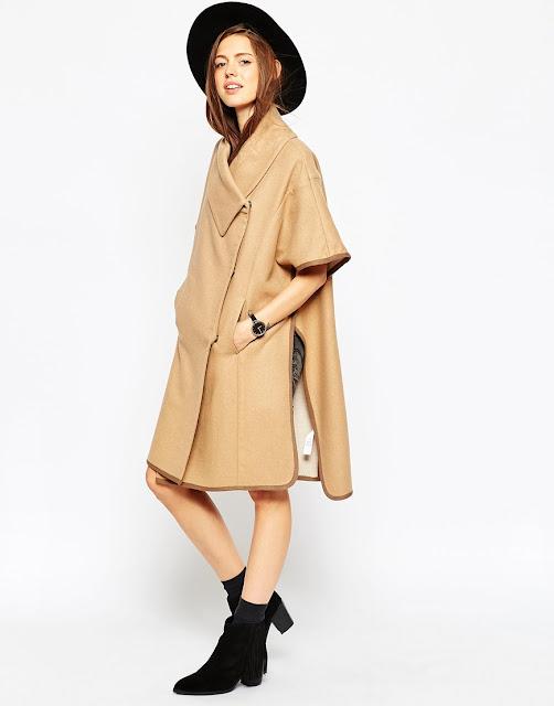 camel cape, funnel neck cape,