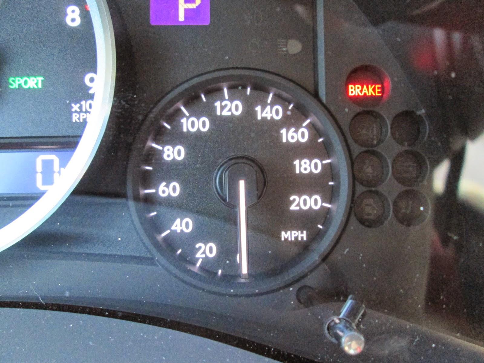 Speedometer of 2014 Lexus IS-F