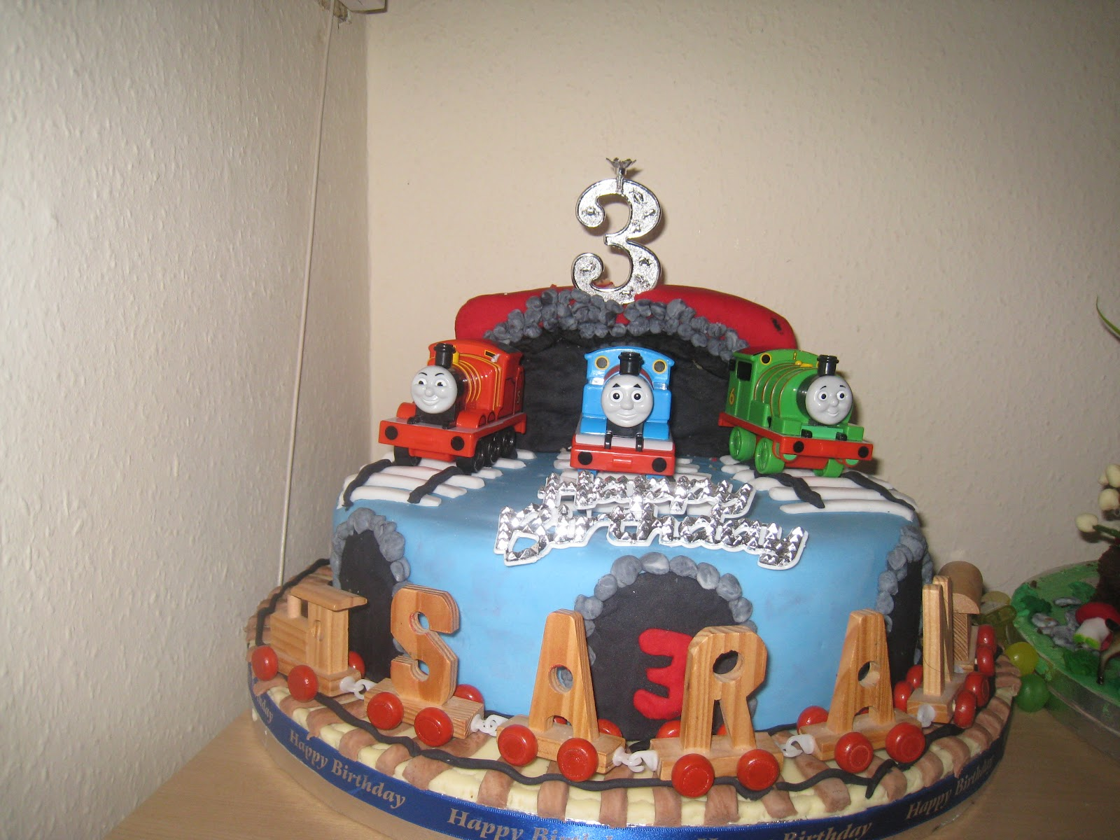 Birthday Cake Images To Son : Rajany s Cake Decorations and Sugarcraft: Thomas and Friends - 3rd birthday cake (for my son)
