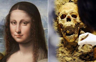Fotografias de los restos de la Gioconda o Mona Lisa