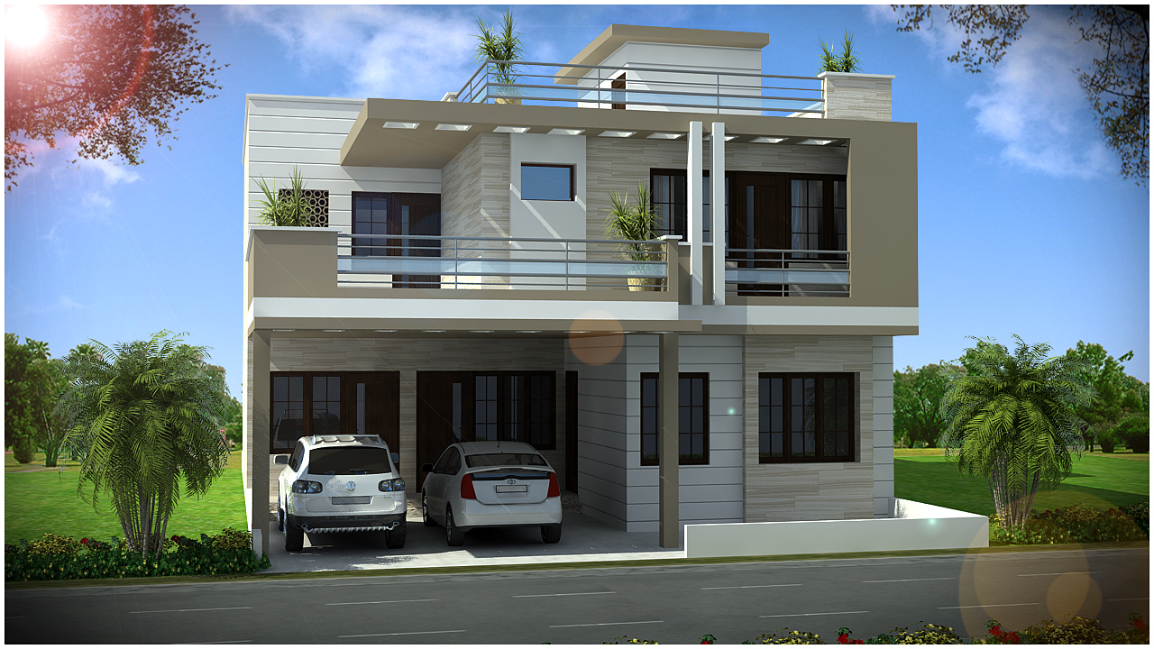 Front Elevation Of Duplex House : Ghar planner leading house plan and design