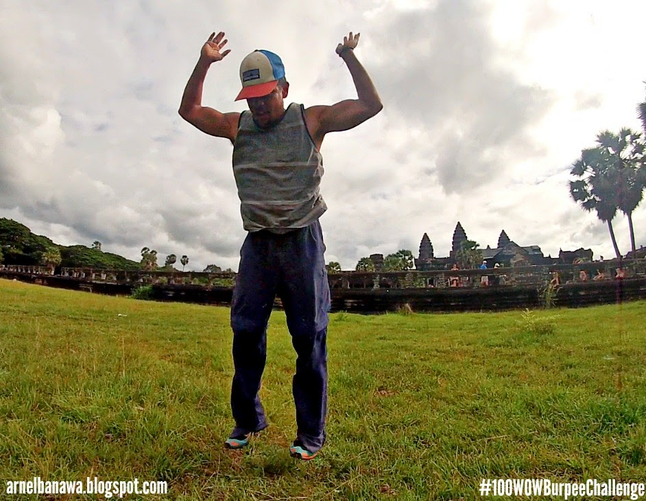 Burpees at Angkor Wat - Siem Reap, Cambodia