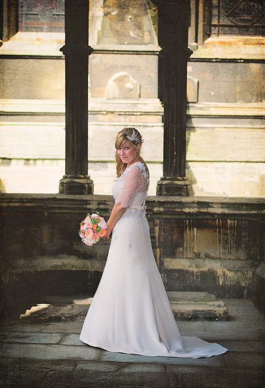 The beautiful bride at Lincoln Cathedral