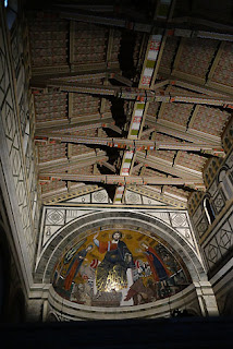 San Miniato Florence Italy Gregorian Chant wooden beams ceiling