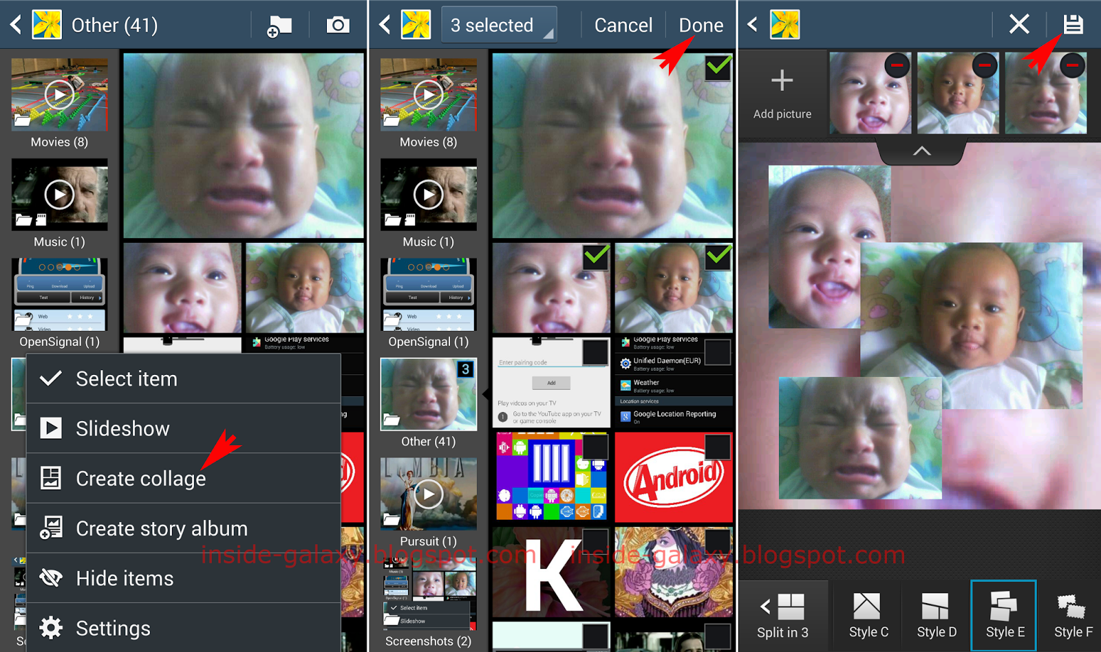 samsung galaxy s4 how to create a photo collage in android 4 4 kitkat
