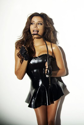 Eva Longoria looks perfect in Black Latex