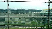 View of the airport from the train (suvarnabhumi airport)