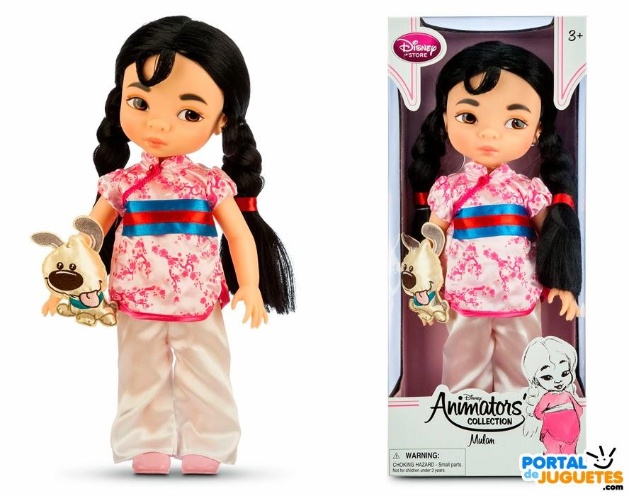 muñeca mulan coleccion disney animators tercera edicion