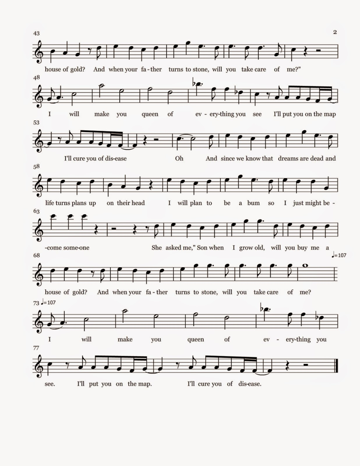 Flute sheet music house of gold sheet music for The house music