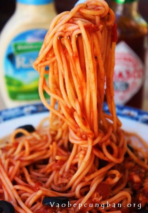 mỳ Ý sốt thịt bò băm 2