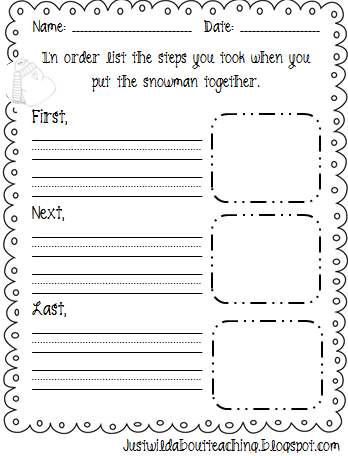 sequencing writing prompts