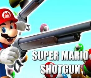 Super Mario with Shotgun