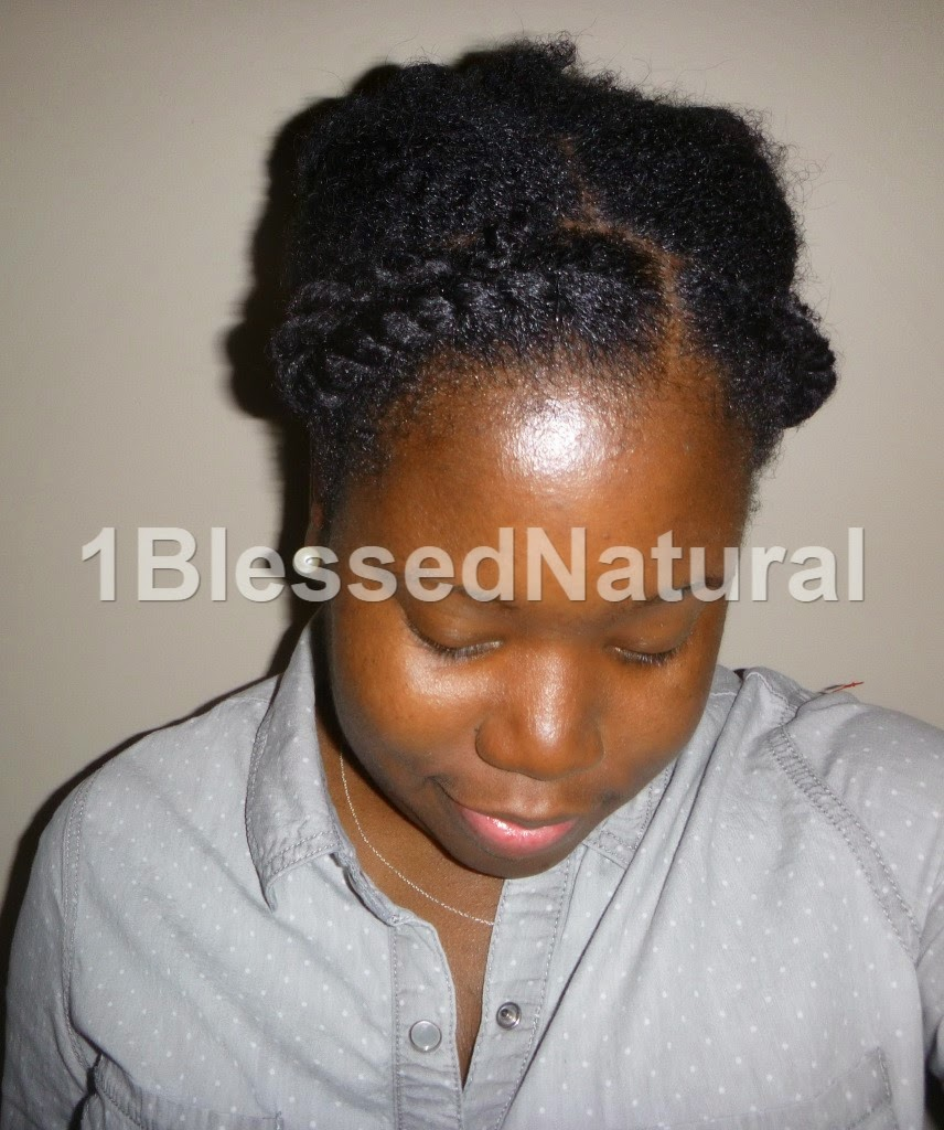 Copyright 2015 1BlessedNatural - flat twisted and banded protective style