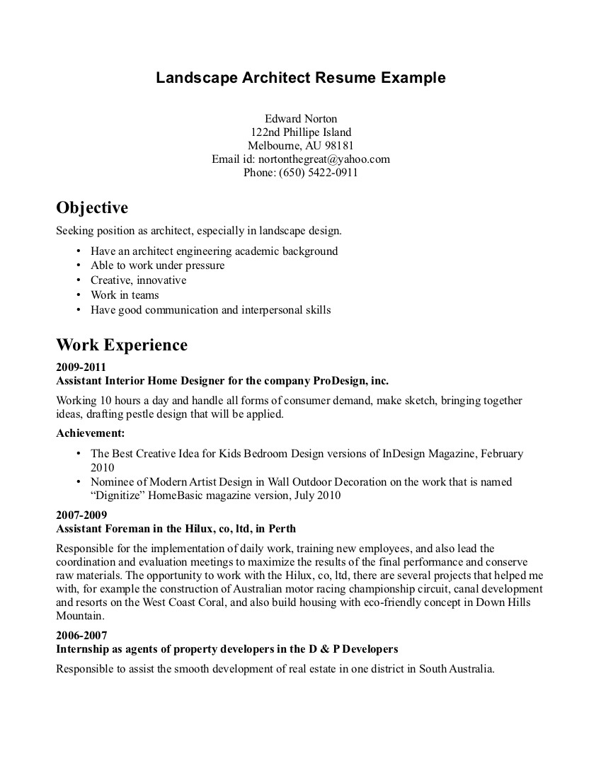 Job Cover Letter Architecture