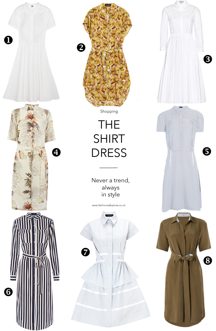 wardrobe essentials / history of shirtdress / shirtwaist dress story / best shirt dresses to buy / trends 2015 / via fashioned by love british fashion blog