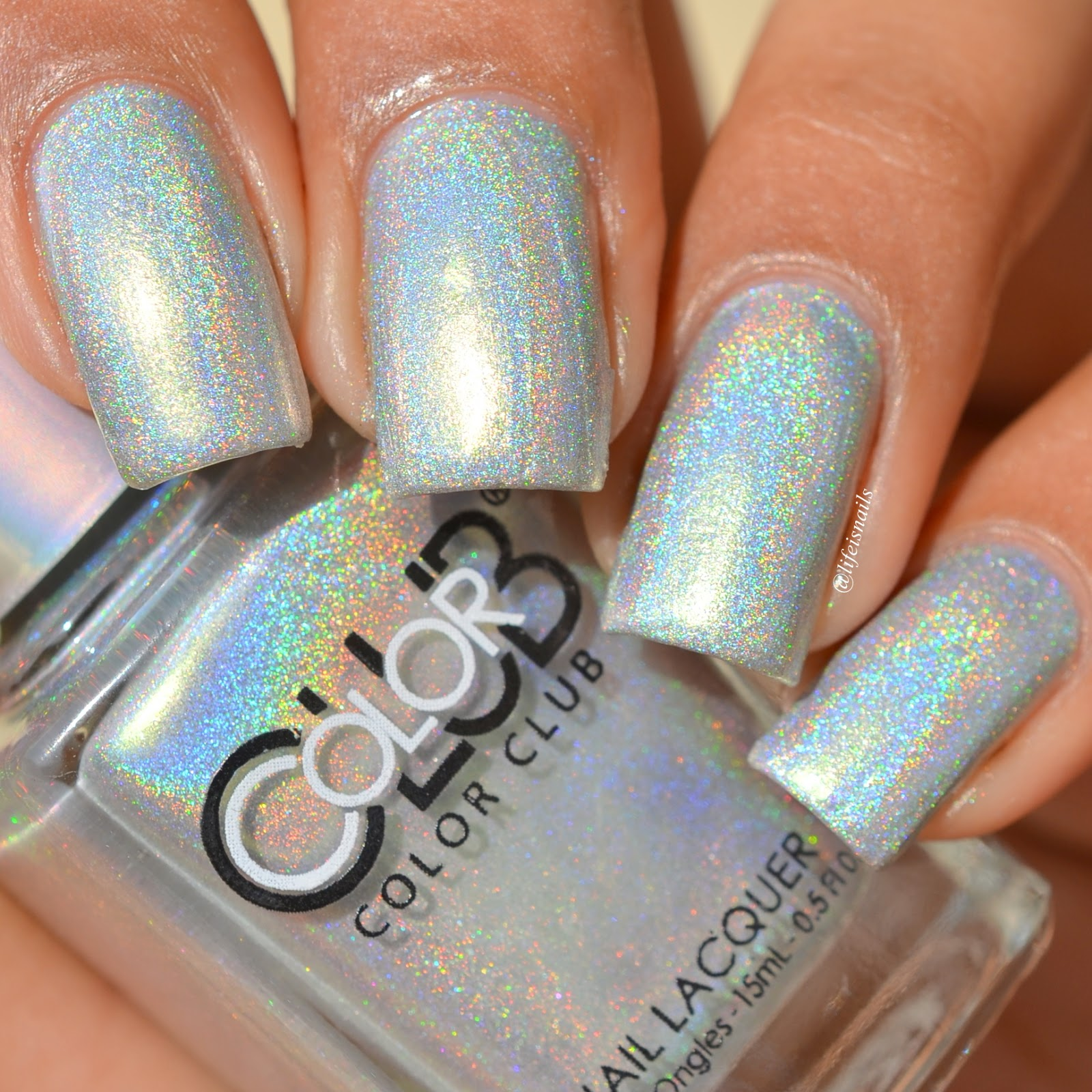 Color Club Holographic Nail Polish Swatches: Color Club Halo Hues 2015 Swatches And Review