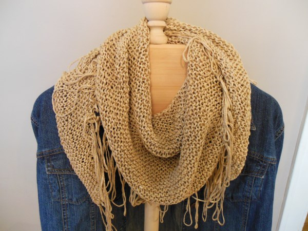 Knitting Patterns For Scarves With Fringe : Natural State Knitting: Fringed Benefits Neck Scarf -- Free Pattern