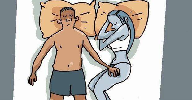 Essa posição reflete que ambos se amam, mas é preciso prestar atenção na relação. De acordo com especialistas é uma combinação entre amor, paixão e diferenças na relação. O fato de dormir com os pés entrelaçados é um símbolo de compromisso com o outro e cumplicidade entre o casal