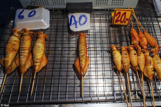 brochettes de Seafood dans les rue de bangkok